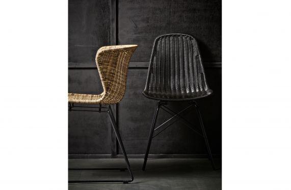 Set v 2 - spun stoel zwart