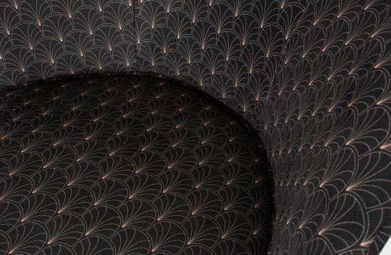 Bo fauteuil fluweel art deco print