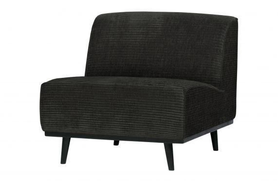 Statement fauteuil brede platte rib graphite