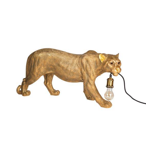Luipaard Goud Vloerlamp