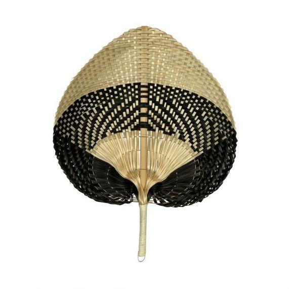 HomeFurn Bamboe waaier blok zwart/naturel