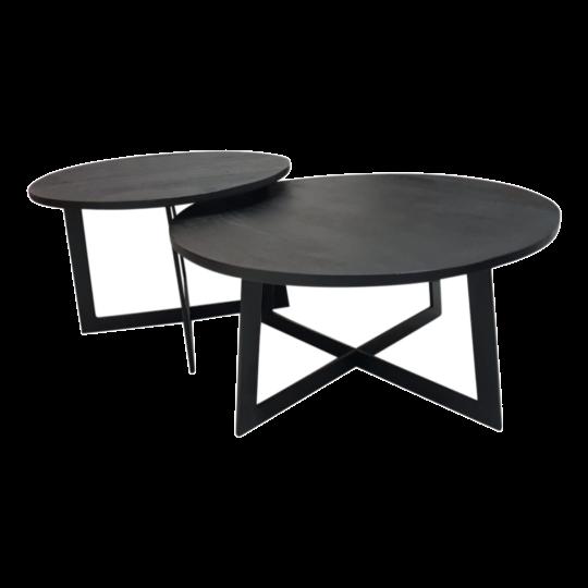 Salontafel Alvin - Set van 2 - Zwart