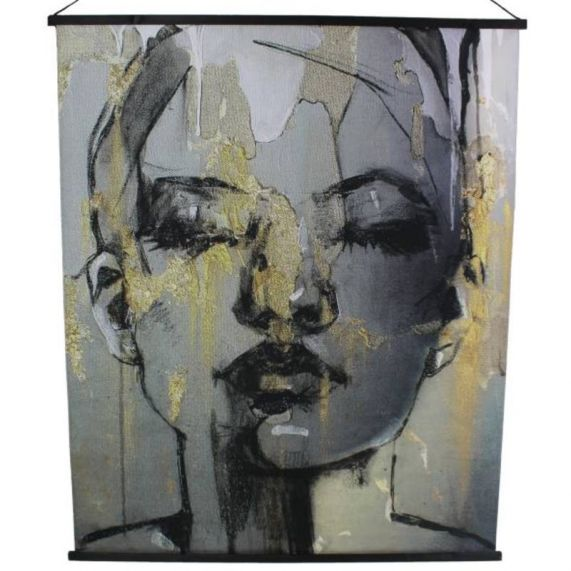 Wall Hanging wanddoek face - VELVET