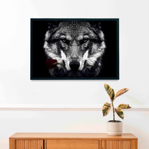 WOLF BLACK INTERIEUR POSTER | 50x70
