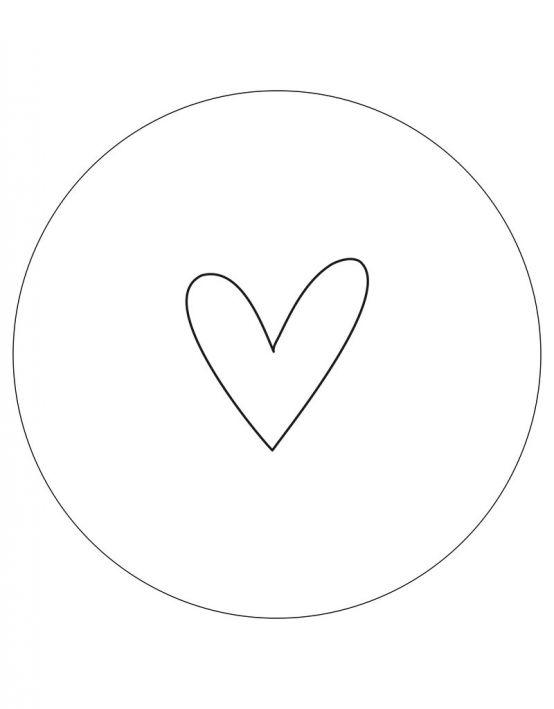 Zoedt Tuincirkel wit met zwart hartje