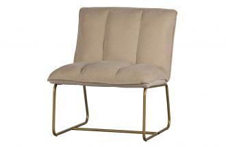 Fie fauteuil ribstof zand