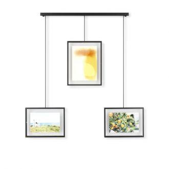 Umbra Multi Foto Display Set van 3 of 5 goud/zwart