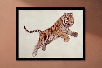 Jumping tiger Interieur posters | A3