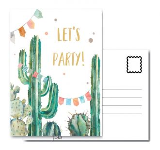 PAND LABEL INTERIEUR / WENSKAART   LETS PARTY A6