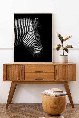 ZEBRA BLACK Interieur posters | 50x70