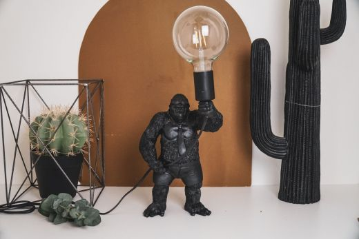 Housevitamin STANDING GORILLA LAMP Zwart
