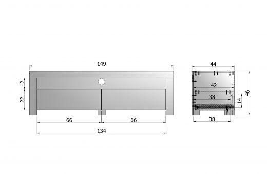 Mats tv meubel 150 eiken [fsc]