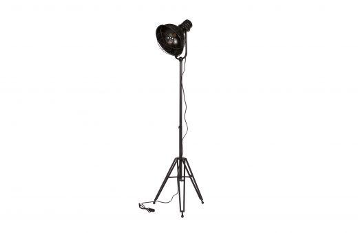 Spotlight staande lamp zwart