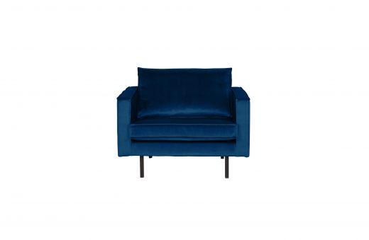 Rodeo fauteuil velvet dark blue nightshade