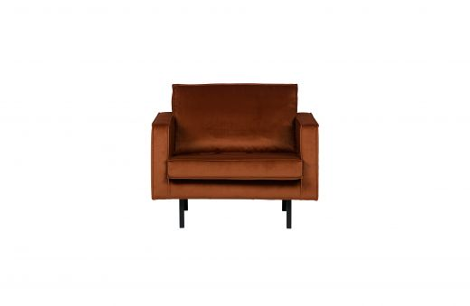 Rodeo fauteuil velvet roest