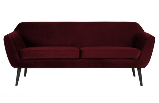 Rocco sofa 187 cm fluweel red