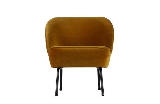 Vogue fauteuil fluweel mosterd