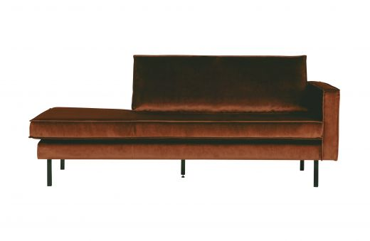 Rodeo daybed right velvet roest