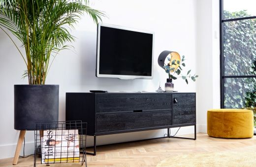 Silas tv meubel essen blacknight [fsc]