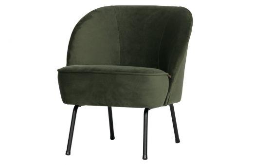 Vogue fauteuil fluweel onyx