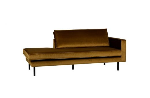 Rodeo daybed right velvet honing geel