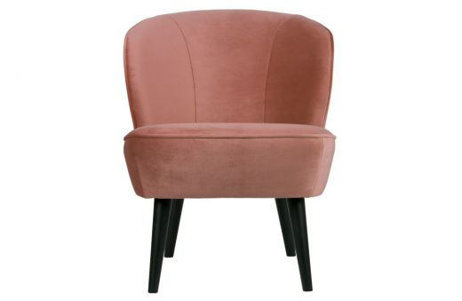 WOOOD Sara fauteuil fluweel oud roze