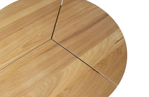 Rodi bijzettafel l hout/metaal bruin 38xØ60
