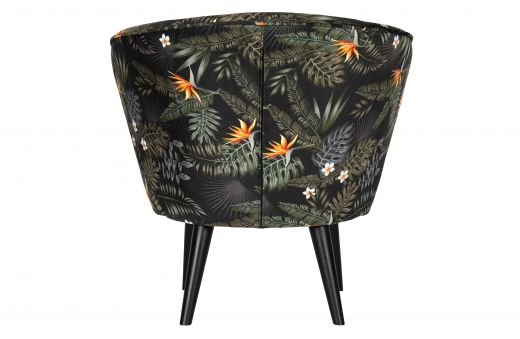 Bo fauteuil fluweel bloem print