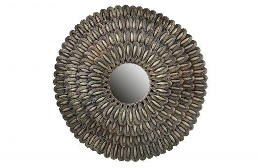 Husk spiegel metaal antique brass