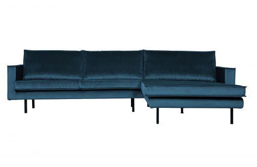 Rodeo chaise longue rechts velvet blue