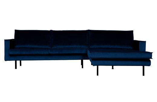 Rodeo chaise longue rechts velvet dark blue nightshade