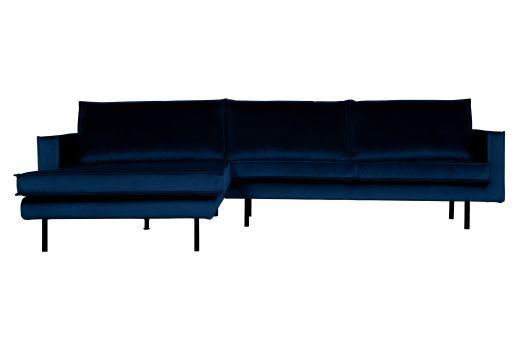 Rodeo chaise longue links velvet dark blue nightshade