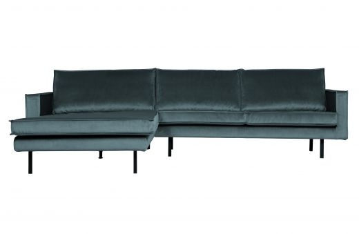 Rodeo chaise longue links velvet teal