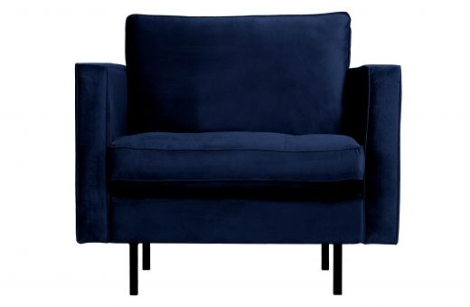 Rodeo classic fauteuil velvet dark blue nightshade