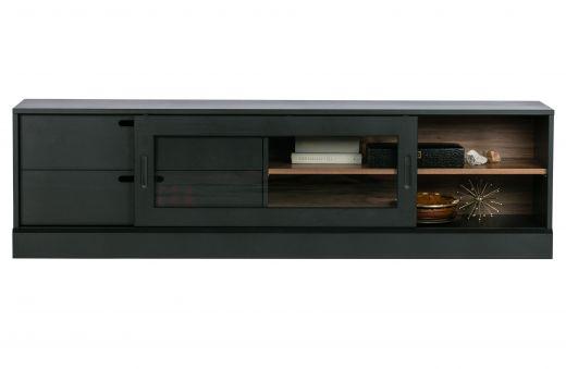 James tv-meubel noten/zwart [fsc]