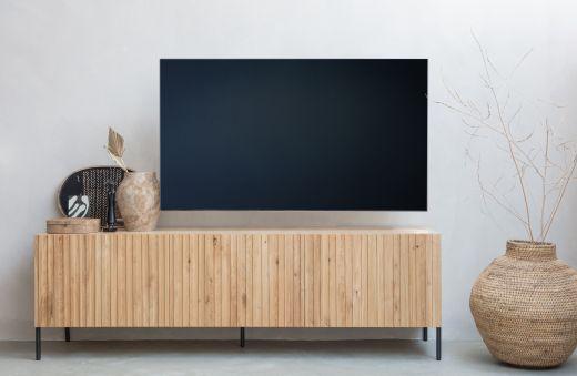 Gravure tv meubel eiken naturel [fsc]