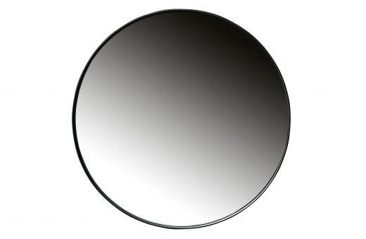 Doutzen spiegel metaal zwart Ø80cm