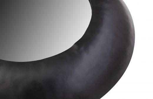Wolf spiegel metaal zwart Ø50cm
