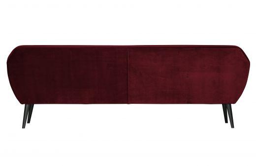Rocco xl sofa 230 cm fluweel red