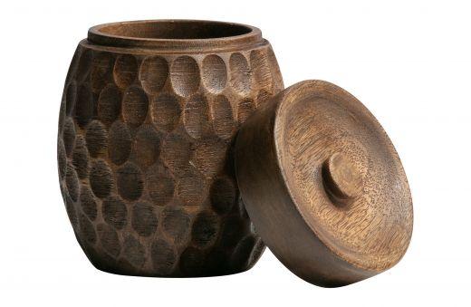 Hala opbergpot hout bruin 15xØ12cm