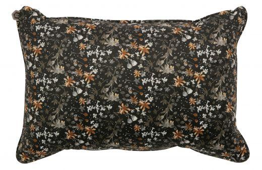 Vogue kussen 40x60 fluweel aquarel flower zwart
