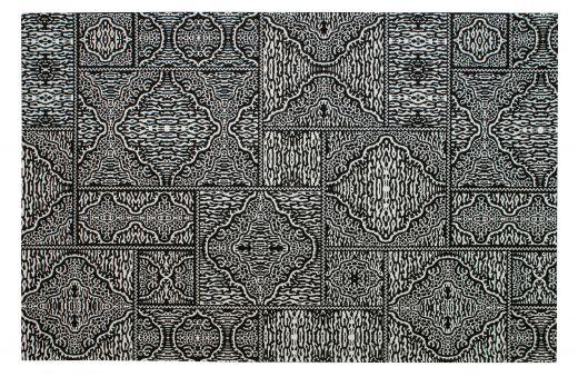 Renna vloerkleed zwart/wit 155x230cm