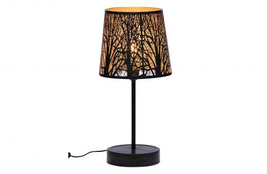 Keto tafellamp metaal zwart/antique brass