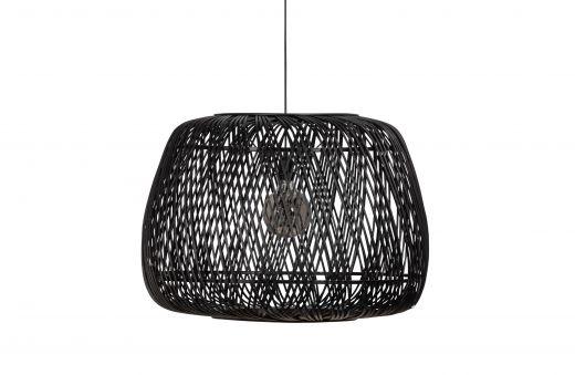 Moza hanglamp bamboe zwart 70x70cm