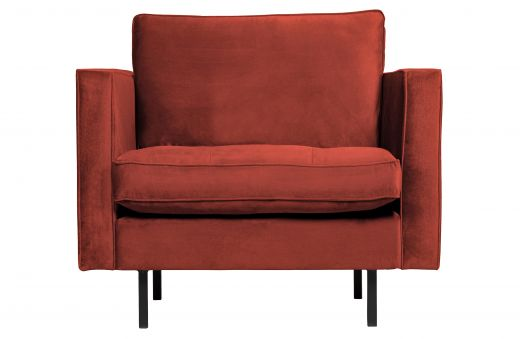Rodeo classic fauteuil velvet chestnut