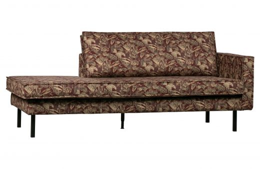 Rodeo daybed right velvet bouquet chestnut