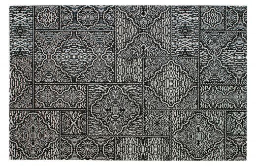 Renna vloerkleed zwart/wit 200x300cm