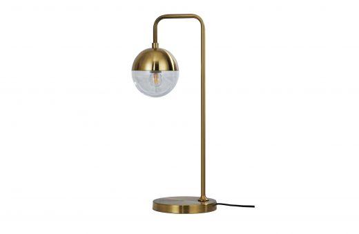 Globular tafellamp metaal antique brass