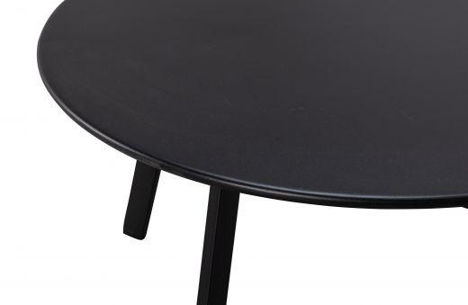 Fer bijzettafel metaal zwart Ø70cm