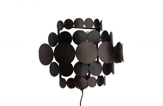 Kaki wandlamp metaal zwart